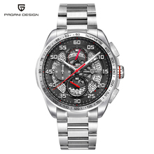 PAGANI DESIGN Luxury Mens Sport Watch Military Stainless Steel Waterproof Men Watches Chronograph Business Quartz Wrist Waches цена и фото