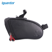 Iguardor Bicycle Saddle Bag Ridding Equipment Waterproof Latex Tail Package for Bike  18*9*10.5 CM- Black