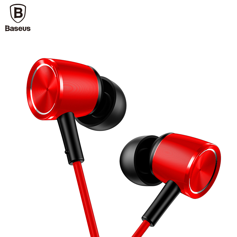 Baseus Headphone Hybrid Pro HD Earphone Wired  Earbud Earphone HiFi Stereo Metal Headset fone de ouvido with Mic for phone-in Headphone/Headset from Consumer Electronics on AliExpress