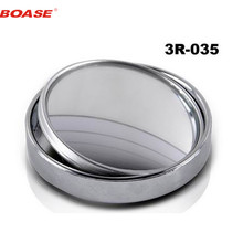 2PCS Auto Car rearview mirror small round mirror Blind spot mirror Wide-angle lens 360 Degrees adjustable Rear view auxiliary