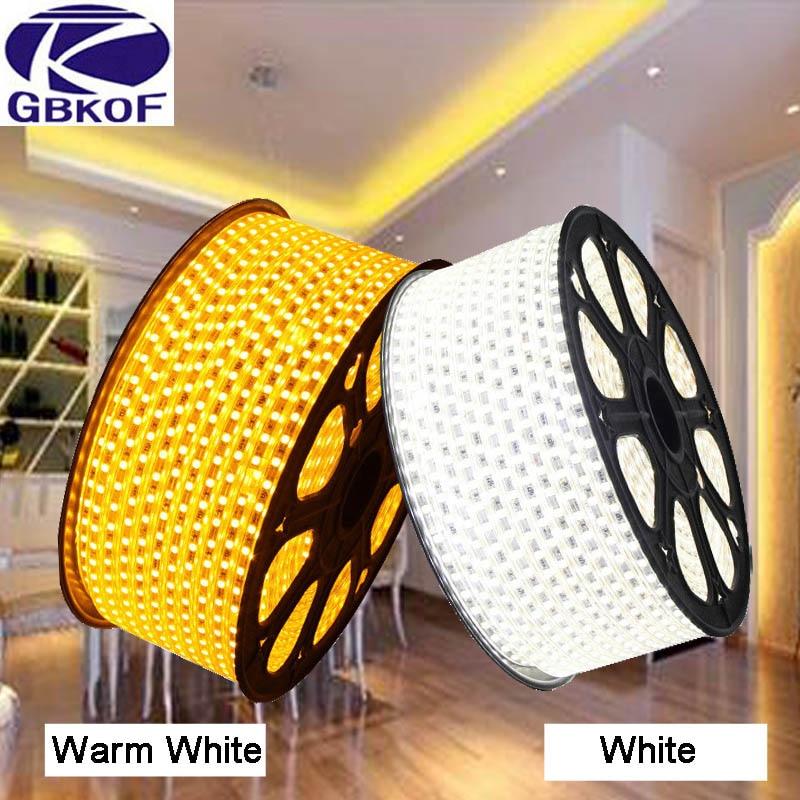 220V LED Strip Light 5050 Waterproof IP67 230V Kitchen Outdoor Garden Lamp Tape EU Power Plug 2m 5m 8m 10m 15m 20m Blue Red Warm цены онлайн