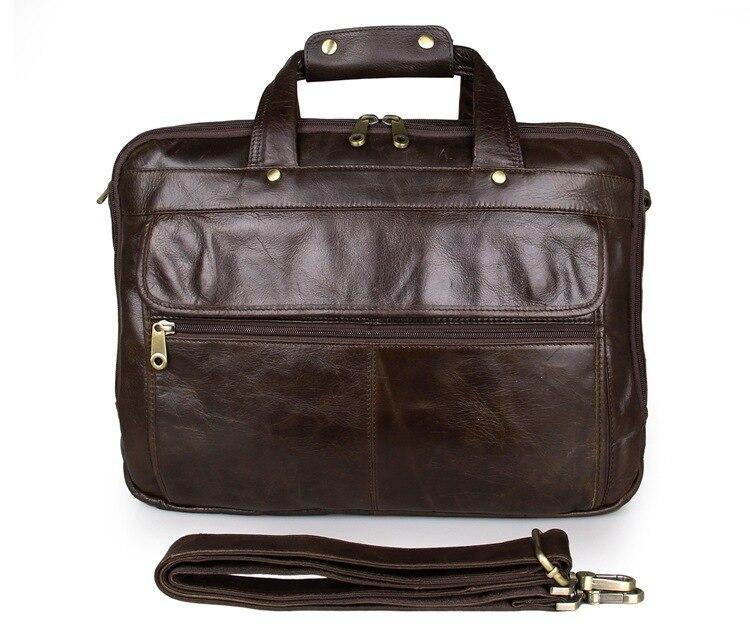 Vintage casual tote sacchetto degli uomini del cuoio genuino business briefcase borsa multifunzionale borsa di disegno 15.6 pollice lapot messenger bag-in Borse a tracolla da Valigie e borse su  Gruppo 1