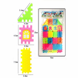 Image 4 - 44pcs / lot puzzle fun three   dimensional assembled house building  toys can be opened window building  toys