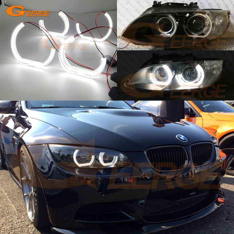 For BMW 3 Series E92 E93 M3 Coupe cabriolet 2007-2013 Excellent crystal DTM M4 Style Ultra bright led Angel Eyes kit bburago bmw z4 m coupe