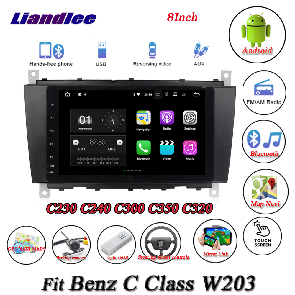 Liandlee Car Android System For Mercedes Benz C Class W203 C230 C240 Radio GPS Nav MAP Navigation HD Screen Multimedia NO CD DVD