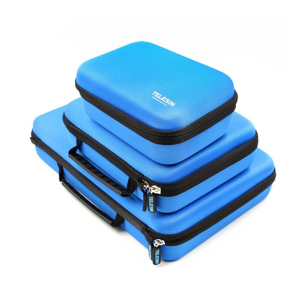TELESIN Bagagli Carry Custodia Protettiva Scatola di EVA per GoPro Hero 6 5 4 3 2, SJ4000 SJ5000 Xiaomi YI 4 K Accessori Della Fotocamera Borsa A Mano