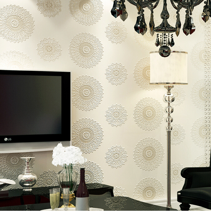 3d papel parede Vinyl Chinese Style Circle Wallpaper Rolls for TV Background 3d stereo wall paper Roll 3d Wallcoverings 3d bookshelf wallpaper rolls for study room of american vintage chinese style background 3d wall paper papel de parede