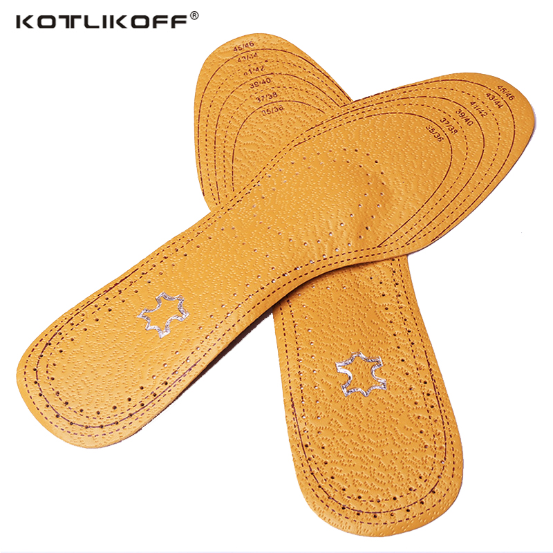 KOTLIKOFF Premium leather women men Comfortable Insoles Breathable Insoles Inserts flat Arch foot pad Shoes accessories expfoot orthotic arch support shoe pad orthopedic insoles pu insoles for shoes breathable foot pads massage sport insole 045