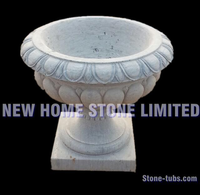 White planter pot outdoor garden containers simple shape stone white planter pot outdoor garden containers simple shape stone flower pots modern white marble outdoor flower workwithnaturefo