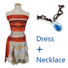 2017 Women Kids Movie Moana Princess Dress Cosplay Costume women Princess vaiana Costume Skirt Halloween Costume for Women Party