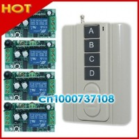 Free Shipping 12V 1ch Rf Wireless Remote Control Switch 315mhz 433 92mhz Receiver Digital Livolo Relay