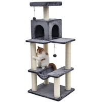 Domestic Delivery Cat Toy Kitten House Luxury Scratching Post Wood Climbing Cat Tree House Kitten Jumping Frame Cat Furniture