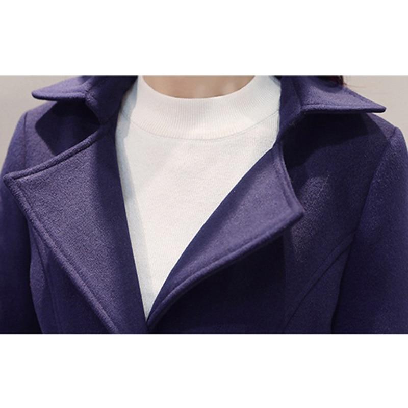 Hiver Taille Veste Ws224 Loisirs Nouvelle Automne Blue Femmes navy Long Lâche Laine Slim Green Grande Army Manteau Mode 2018 De red PZ0xwxB