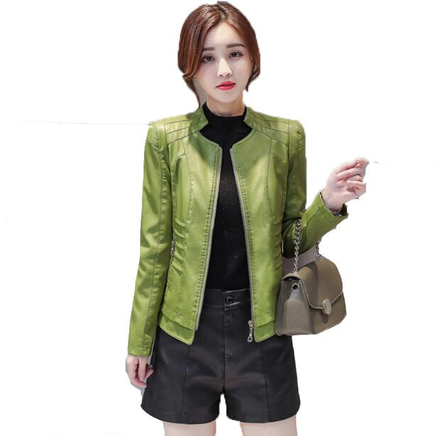 brown verde Nero Giacche Nero Modo Donne Giacca 2018 Nuovo rosso Moto Di Rossa Plus xxxxl Size Cappotto Inverno Autunno Pelle Delle M Cuoio Il qw1qfB