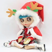 Наряды для куклы Blyth, рождественское платье Санты со шляпой для 1/6 licca, pullip, ICY DBS, azone, jerryberry
