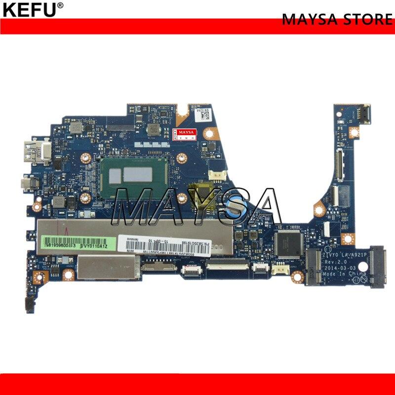 KEFU ZIVY0 LA A921P Основной совет, пригодный для Lenovo Yoga 2 13 материнская плата для ноутбука 13,3 дюймов SR1EN I3 4030U Процессор