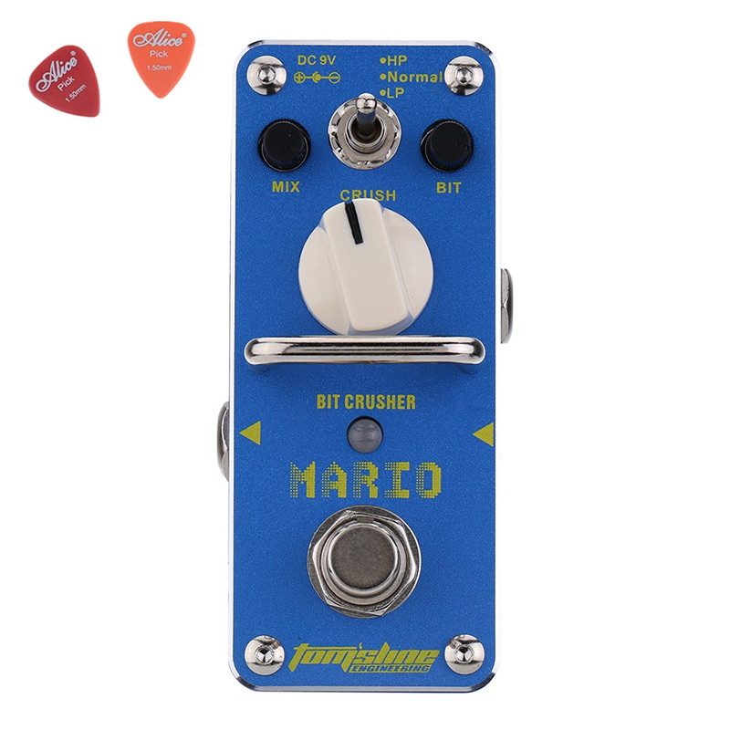 AMO-3 Mario Bit Crusher Electric Guitar Effect Pedal Aroma Mini Digital Pedals Full Metal Shell With True Bypass слингобусы ti amo мама слингобусы алба
