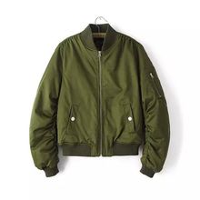 Free shippiong Winter bomber cotton jacket hipster baseball thin coats kanye Quilted Pilots jackets women Short Outerwear