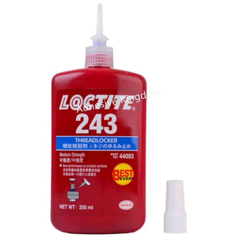 2pcs 250ml Loctite screw adhesive 243 anaerobic super glue high strength anti loose anti slip seal