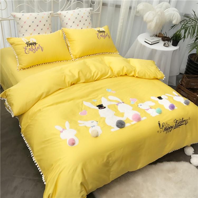 100 cotton dobby embroidery kids girl adult cartoon four season home textile printing bedding setduvet cover