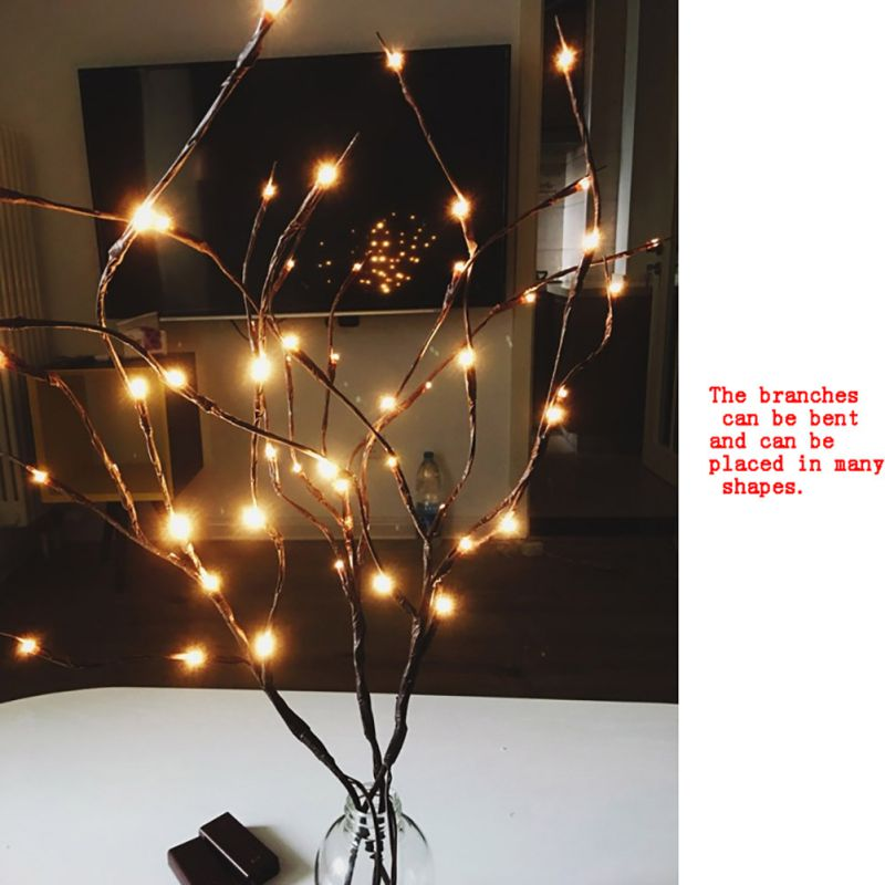 Fashion LED Willow Branch Lamp Floral Lights 20 Bulbs Home Christmas Garden Bar Party Light Decoration