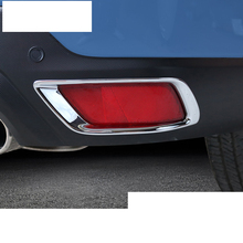lsrtw2017 chrome abs car rear foglight trims for subaru forester 2019 2020 SK