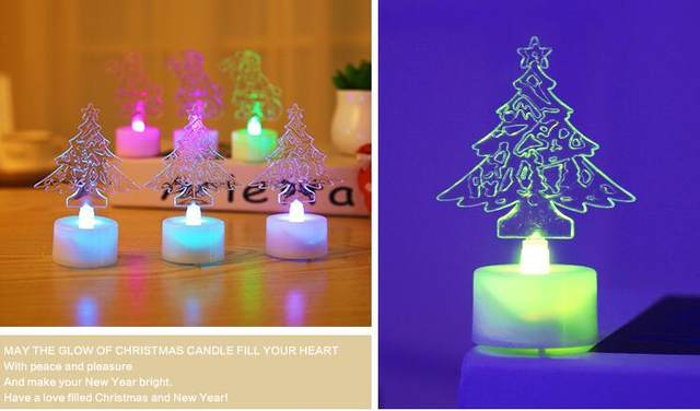 Online shop new acrylic colorful candle lights the christmas tree