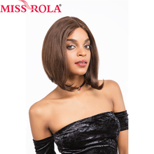 Miss Rola Hair Pre-Colored Wigs Brazilian Straight Hair Weave Wigs Lace Frontal #2/4Color 152g/pc Non-remy Free Shipping