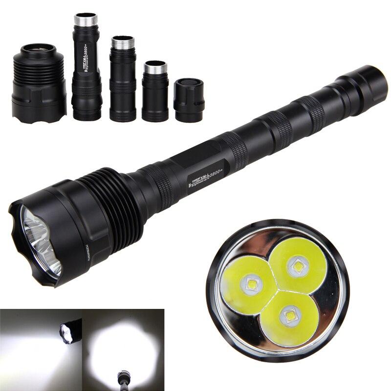 Alluminio 3800lm Torcia Tattica TR-3L2 LED di Caccia Della Torcia 1 Modalità di Memoria Interruttore Tailcap Lanterna