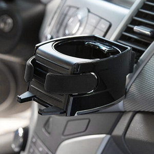 Image 2 - Bekerholder support pour voiture, accessoire noir pour voiture, gobelet pour boissons, grille de ventilation porte bouteille pour bouteilles deau, support de téléphone