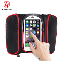 WHEEL UP New 6 2 Inch Waterproof Touch Screen Bike Bag Front Frame Top Cell Phone