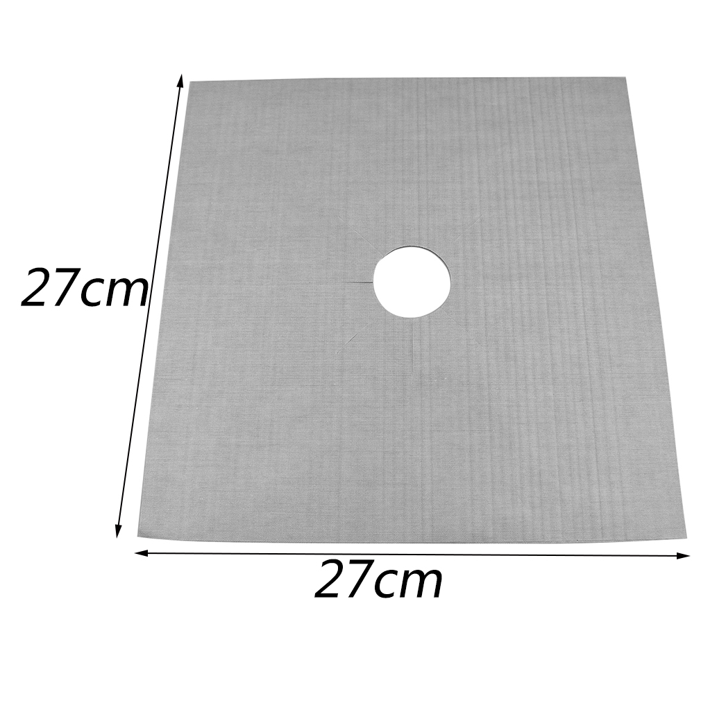 4Pcs per Set Reusable 27x27Cm Stove Cover for Kitchen Used as Anti Fouling Oil Protector 11