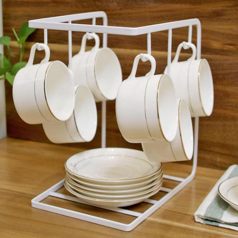 Online Shop Iron Desk Mug Coffee Cup Drying Storage Rack Holder Standing Kitchen Drain Drainer Hanger Organizer Plate Dish Dry Draining Rack | Aliexpress ... & Online Shop Iron Desk Mug Coffee Cup Drying Storage Rack Holder ...