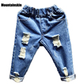 Children's Denim Pants Fashion Boys Ripped Jeans Girls Casual Trousers Cotton 1-7Y Baby Kids Jeans Fashion Kids Clothes SC777