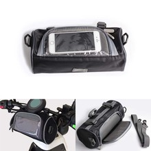 2.5L Motorcycle Front Handlebar Fork Black Storage Bag Container Motorcycle Universal Accessories
