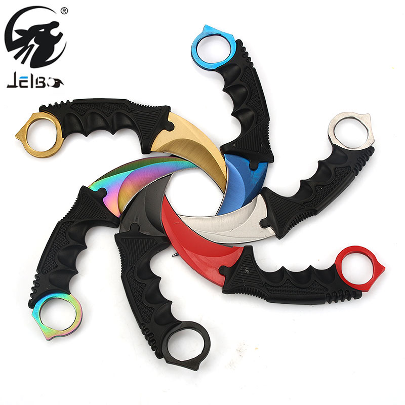 Jelbo Knife CS GO Counter Strike Tactical Claw Karambit Knife Outdoor Tool Survival Camping Hunting Tactical Knife Hand Tools 8colors cs go stripe karambit knife counter strike karambit tactical handmade fighting claw hunting knives survival camping tool