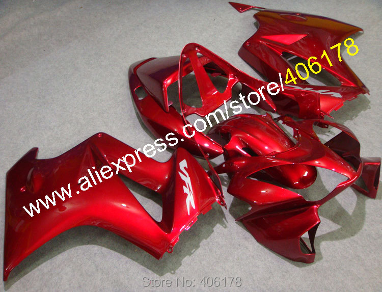 Hot Sales,Cheap Customized Fairing For Honda VFR 800 02-12 VFR800 2002-2012 Dark Red Bodywork ABS Body Kit (Injection molding) hot sales white black for honda vfr800