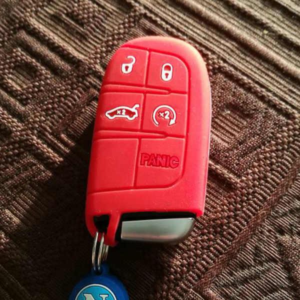 ซิลิโคนฝาครอบพอดีสำหรับ Jeep Cherokee Renegade สำหรับ Dodge Journey Dart Durango Charger Chrysler 300c Fiat Freemont Remote Case