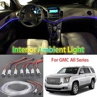 For GMC All Car Metal Head High Brightness Fiber Optic Lights Car Interior Lights Ambient Lamp