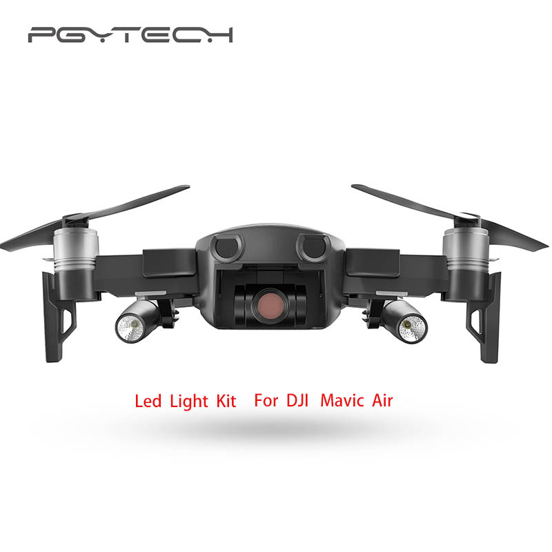 New Arrivals PGYTECH Portable Night Flight LED Light Kit Lighting for DJI Mavic Air Drone Accessories free shipping pgytech dji spark led light for dji spark portable night flight led light lighting drone accessories