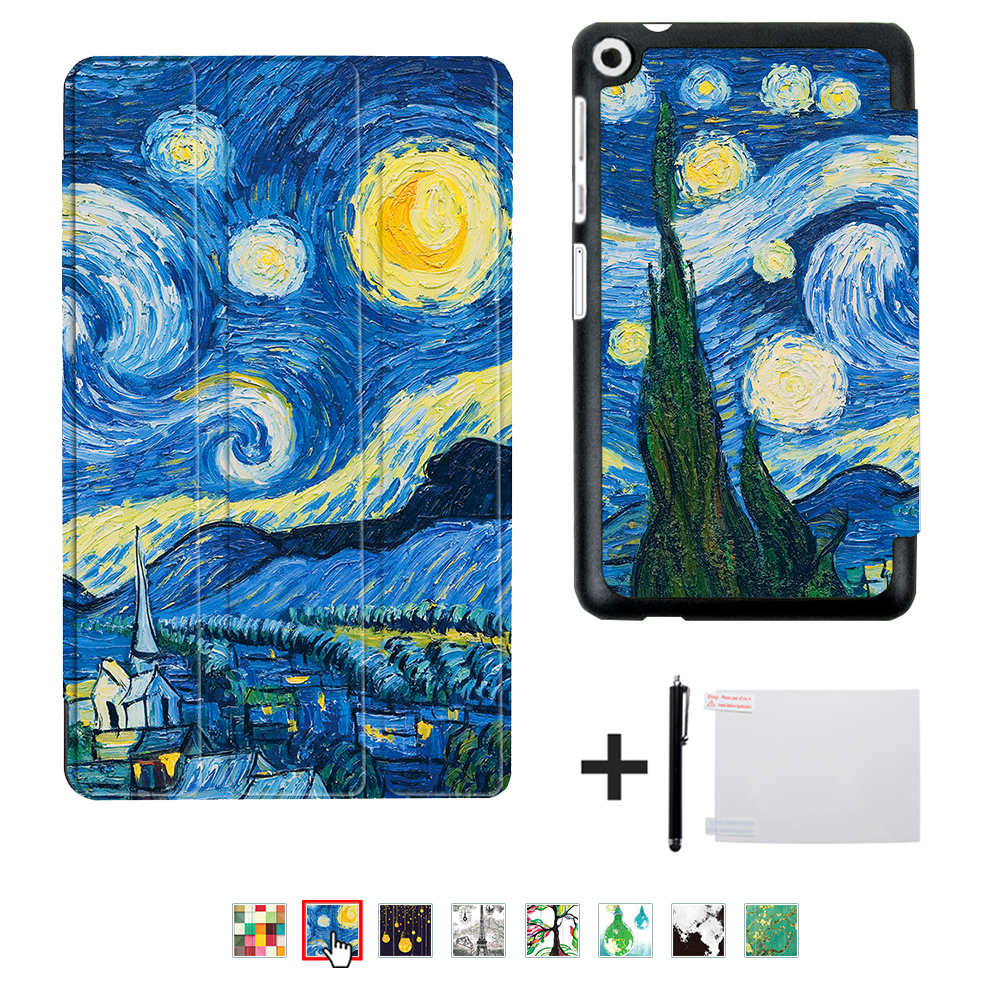 Cobrir caso para Huawei MediaPad T3 8.0 KOB-L09 KOB-W09 para 8 ''Tablet PC suporte caso magro para Honor Play Pad 2 8.0