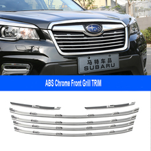 Car Accessories ABS Front Grill Grille Frame Cover Trim For Subaru Forester SK 2018 2019 6pcs/set