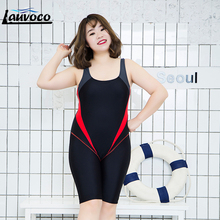 Women One Piece Swimsuit Large Size 6XL Sport Swimwear Patchwork Professional Swim Suit Mid Shorts Quick Dry Plus