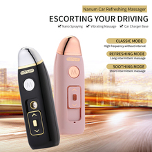 ФОТО Built-in massage provide function USB charging port car air purifier steam humidifier aromatherapy essential oil aroma spray
