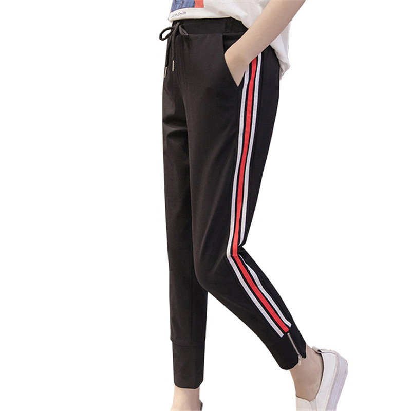 Aliexpress.com : Buy Red White Striped Pant Sweatpants ...