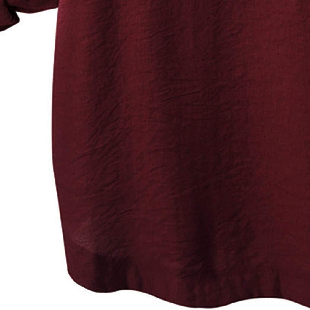 65 piezas mujer suelta chica Autunm talla grande Camisa larga tres cuartos algodón Casual paño