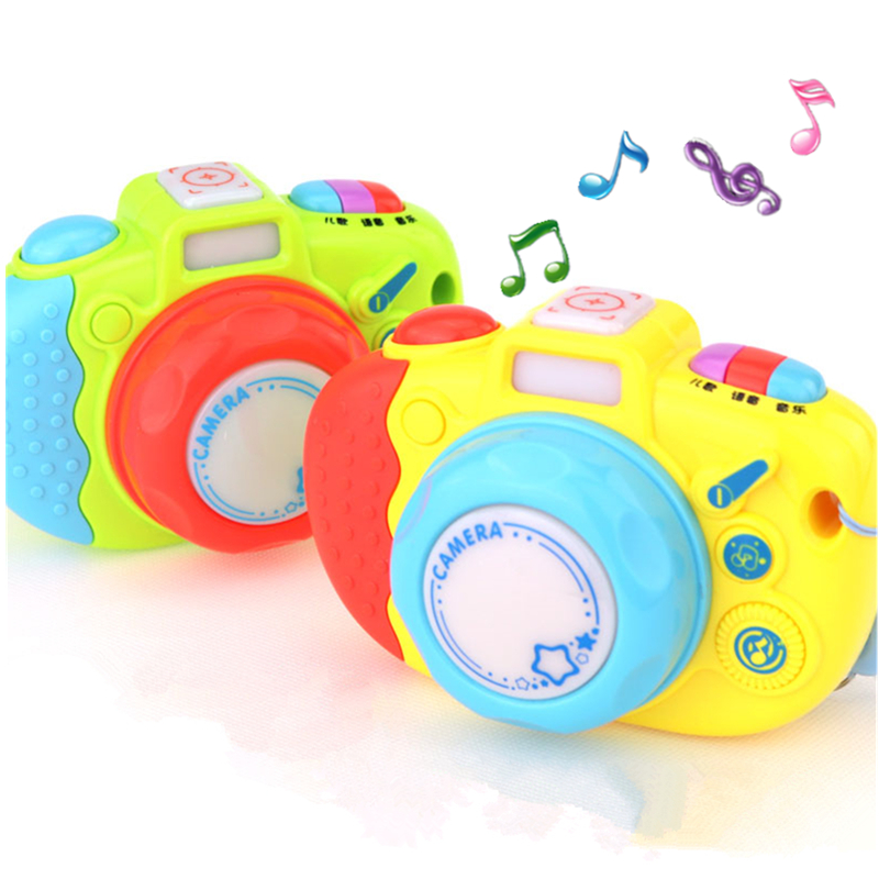 Plastic Musical Toy Camera Funny Cameras Sound Light Educational Taking Photos Toys For Children Photography Gift