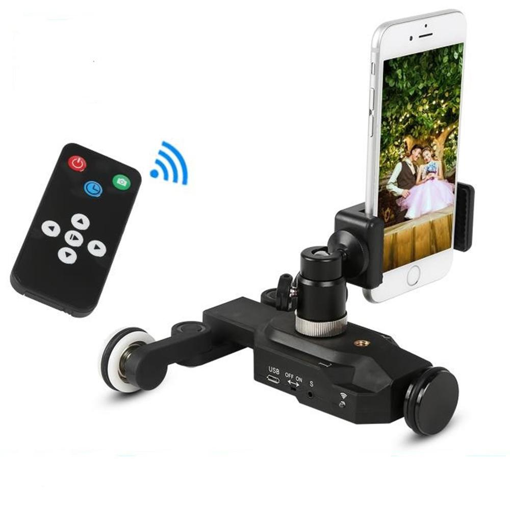 Yiwa 3-Wheels Wirelesss Video Camera Auto Dolly Track Slider Dolly Car Track Rail for DSLR Cameras Camcorders iPhone image