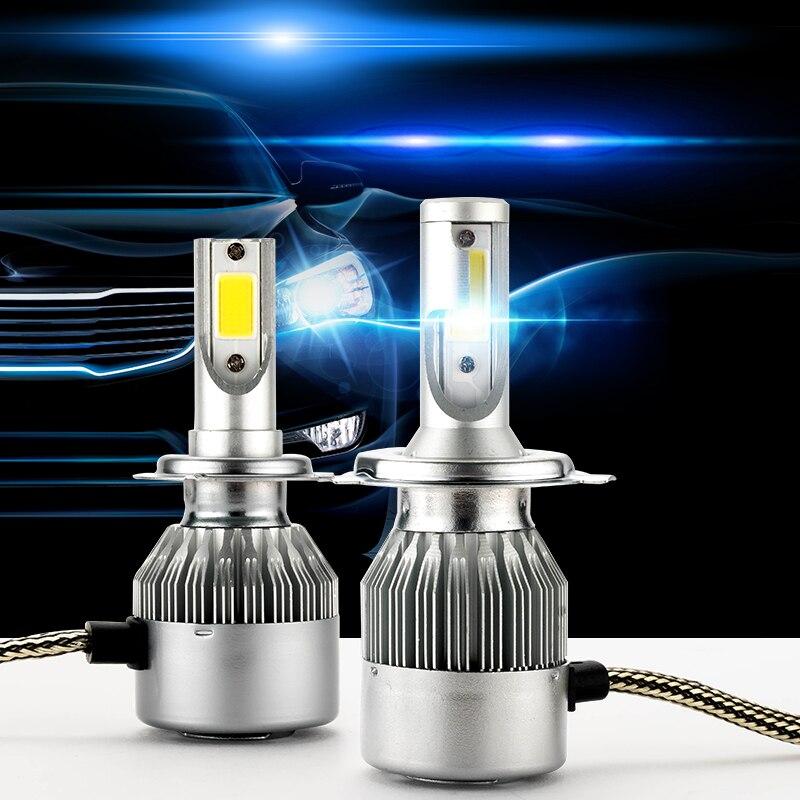 H4 LED C6 H11 H1 H4 H7 9005 9006 H3 H8 H9 H13 9007 Auto Auto Scheinwerfer Lampen 72 W 7800LM 6000 K Led Automotive