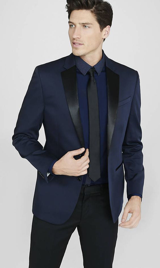 Online Get Cheap Navy Blue and Black Suit -Aliexpress.com ...